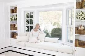 interior design white wall paint decoration and bay window frame