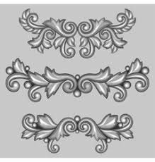 baroque ornamental antique silver frame on black vector image
