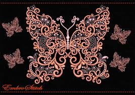 butterfly of patterns embroidery design 2 sizes 8 formats