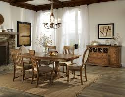 Dining Room Trestle Table Intercon Rhone Dining Trestle Table And Chair Set With 6 Chairs