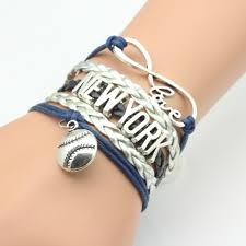 Handmade Mens Bracelets - infinity handmade duke new york football sport wrap weaving