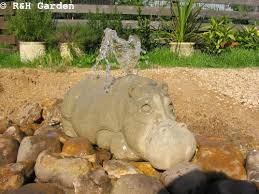 hippo water feature hippo hippo ornament hippo garden