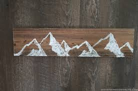wood mountain wall how to make reclaimed mountain wall mountainmodernlife