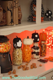 Halloween Candy Jar Ideas by 64 Best Goodwill U0026 Halloween Decorations Images On Pinterest