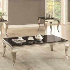 coaster 705010 glam coffee table with queen anne legs dunk