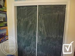 Painting Sliding Closet Doors A Chalkboard Wall Out Of Mirrored Closet Doors Enchanted
