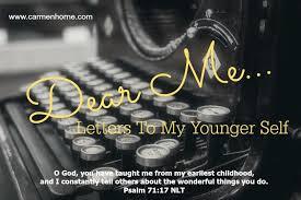 dear me letter to my younger self kristi woods carmen horne