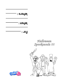 scary costumes u0026 masks coloring pages hellokids com