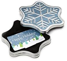 christmas gift card tins gift card for any amount in a snowflake tin