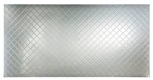 Fasade Quilted  X  PVC Backsplash Panel In Brushed Aluminum - Backsplash panel