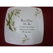 dix ans de mariage assiette décor noces en porcelaine centre vaisselle porcelaine