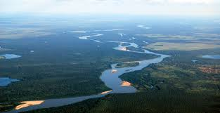 Amazon River On World Map by Row The Amazon