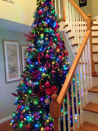 christmas trees with colored lights decorating ideas jewel tone christmas tree decorations holliday decorations