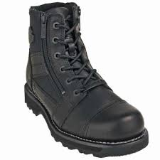 black biker boots harley davidson boots men s 93369 black bonham water resistant