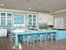 White And Blue Kitchen Cabinets Kitchen Style Pastel Blue White Theme Coastal Kitchen Design
