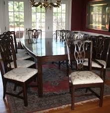 harden cherry dining table and eight chairs ebth