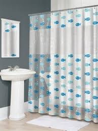 Fish Curtains Vinyl Fish Shower Curtain Foter
