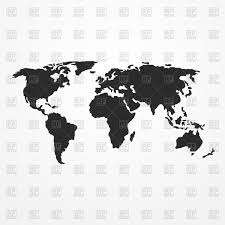 Animal World Map by World Map Silhouette Vector Image 77668 U2013 Rfclipart