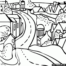 road coloring pages aecost net aecost net
