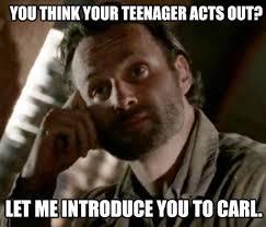 Carl Rick Meme - walking dead zombies lol meme funny rick grimes carl the walking
