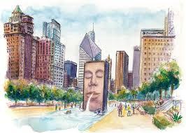 halloween city lynden chicago style urban sketchers