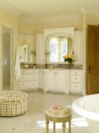 bathroom decorating ideas color schemes bathroom french country bathroom with round seating and crown