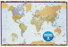 map usa and canada digital modern merry world map hight printable