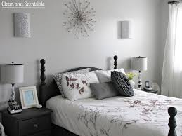 Bedroom Ideas White Walls And Dark Furniture Master Bedroom Makeover Clean And Scentsible