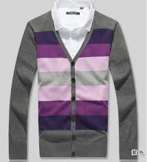 discount young boys plus size big striped cardigan sweaters wool