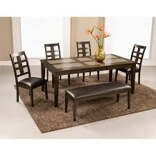 drexel heritage dining room chairs alpine furniture piedmont 6 piece dining set walmart com