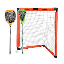 amazon com franklin sports youth lacrosse goal and stick set