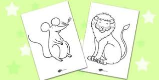 lion mouse primary resources story 1