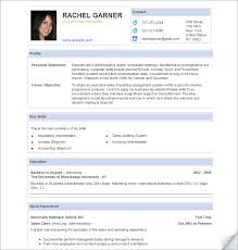 Examples Of Resume Templates How To Write A Curriculum Vitae Cv