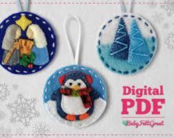 kitschy felt ornaments diy project pdf patterns