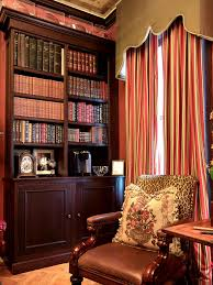 Living Room Rack Design Mesmerizing Library Room In Vintage Style Decoration Contain