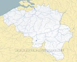 Map Of European Rivers by Belgium Physical Map