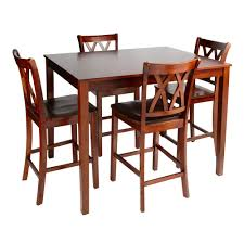 Walnut Dining Room Furniture Walnut Dining High Top Table And Chairs 5 Set