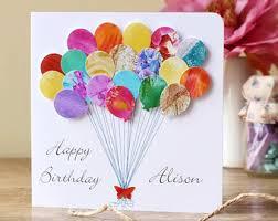 personalised birthday balloons card invitation sles handmade personalised birthday cards with