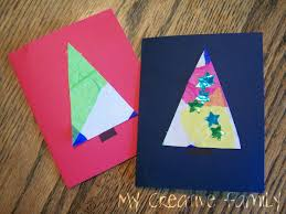 christmas tree cards creative family fun