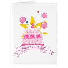 happy birthday 2 year old greeting cards zazzle