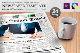 newspaper template compact tabloid magazine templates