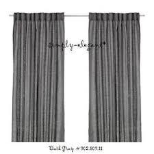 Grey Beige Curtains Ikea Curtains 100 Linen Aina 1 Pair Drapes Window Panels Gray