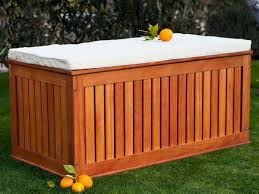 Wood Deck Storage Bench Plans by Outside Storage Bench Treenovation