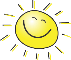 summer clipart illustration of a happy smiling sun