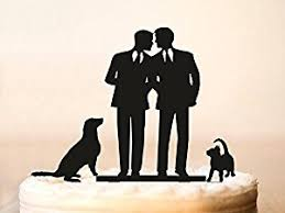 amazon com wedding cake topper with cat dog silhouette