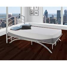 Full Size Metal Bed Frame For Headboard And Footboard Silver Metallic Headboards U0026 Footboards Bedroom Furniture