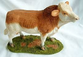 bull figurine ornament simmental bull ornaments yourpresents co uk