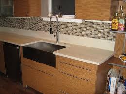 Faux Kitchen Backsplash by Interior Glass Mosaic Tile For Kitchen Backsplash Home Design On