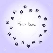 100 dog paw print template footprint template printable 28