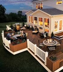 Houzz Backyard Patio by Trex Deck Spiced Rum Picture Sources From Houzz Com And Trex